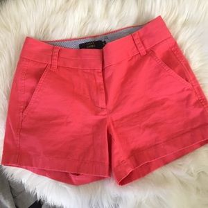 """Crew Coral Chino 4"""" Shorts Size 00"""